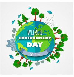 World environment day background for symbols on cl vector