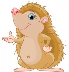 Hedgehog presenting vector