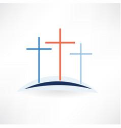 Church crosses icon vector