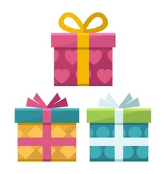 gift boxes flat icon vector image