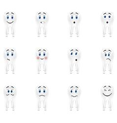 Set smiles sensitive teeth vector image