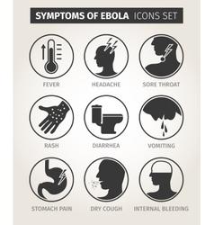 Set of icons symptoms ebola virus vector