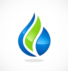 Eco water drop biology abstract logo vector