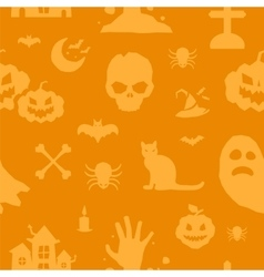 Halloween background seamless pattern vector