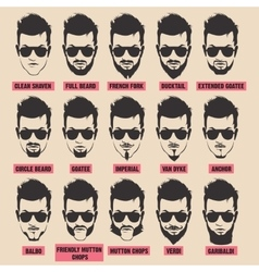 With men beard collection vector