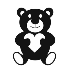 Teddy bear simple icon vector