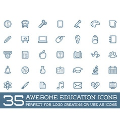 Set of education icons can be used as logo or icon vector