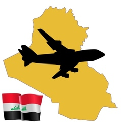 Fly me to the iraq vector