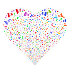 Army general fireworks heart vector