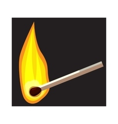 Burning match icon cartoon style vector image vector image
