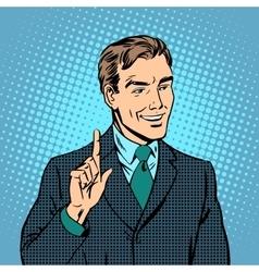 Businessman teacher expert professional vector image