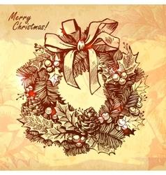 Christmas new year holidays hand drawn vector