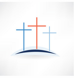 church crosses icon vector image