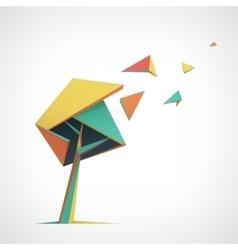 Conceptual polygonal tree abstract vector