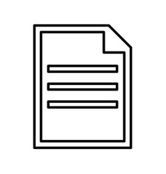 Document black color icon vector