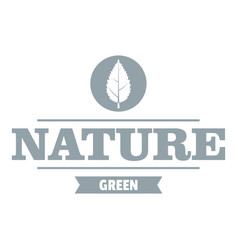 eco greens logo simple gray style vector image vector image