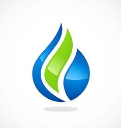 eco water drop biology abstract logo vector image