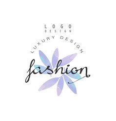 Fashion luxury design logo badge for clothes vector