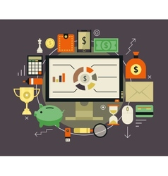 Finance and money items collection vector image