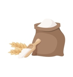 Flour bag vector