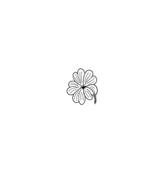 flower outline icon vector image vector image
