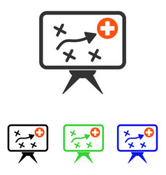 Health strategy flat icon vector