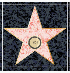 Hollywood music walk of fame vector