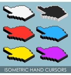 Isometric hand cursors vector image