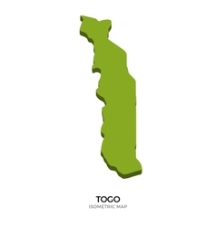 Isometric map of togo detailed vector