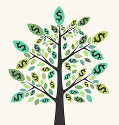 Money tree success concept vector