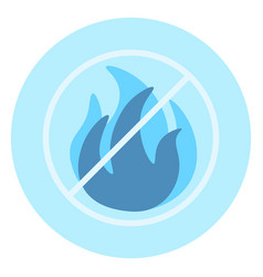 no open fire allowed icon on blue background vector image