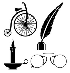 objects old retro vintage icon stock vector image vector image