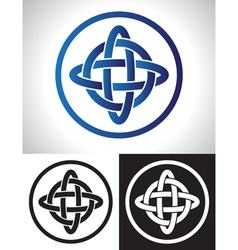 Quarternary celtic knot design vector image