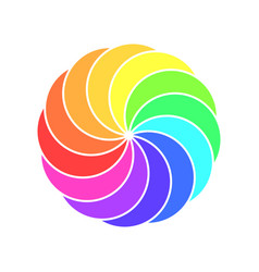 Rainbow spectrum color wheel children wind vane vector