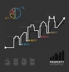 real estate business diagram line style template vector image