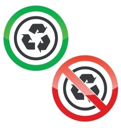 Recycle permission signs vector