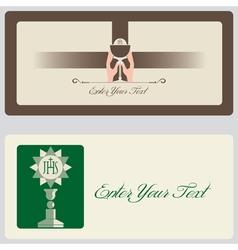 Religion - Invitation Cards vector image