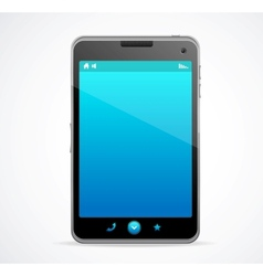 Smart Phone With blue screen vector image vector image