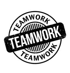 Teamwork rubber stamp vector