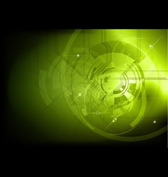tech background green dark vector image vector image