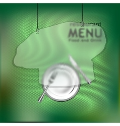 The restaurant menu template with frame vector