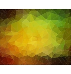 Yellow and Green Background with triangles vector image vector image