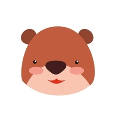 Bear cute animal little icon graphic vector