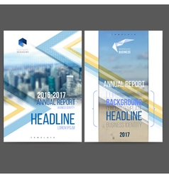 Template design annual report 2017 vector