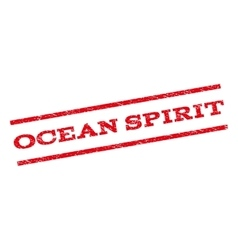 Ocean spirit watermark stamp vector