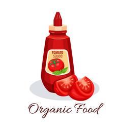 Tomato sauce ketchup vector