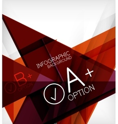 Infographic geometrical shape abstract background vector