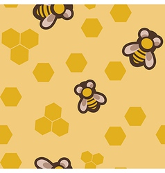 Seamless with bees vector