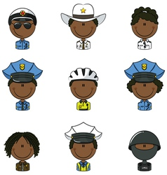 Police avatars vector