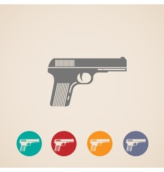 Set of gun icons vector